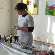 kunst i atelieret på den gamle skole